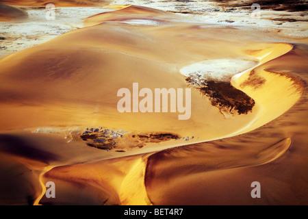Photo aérienne de dunes Namib Naukluft park désert du Namib Namibie Banque D'Images