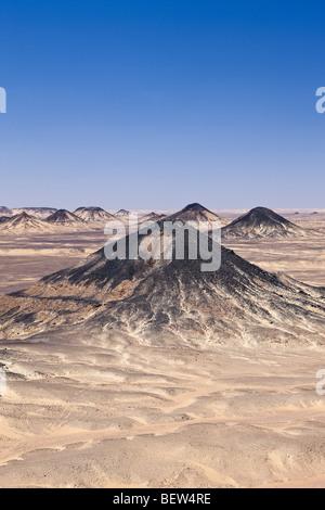 Désert Noir, Désert de Libye, Egypte Banque D'Images