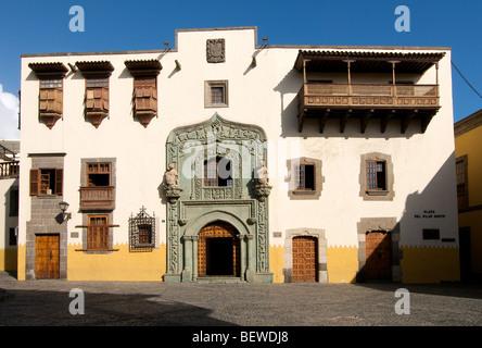 Museum à Las Palmas, Gran Canaria, Îles Canaries, Espagne, vue de face Banque D'Images