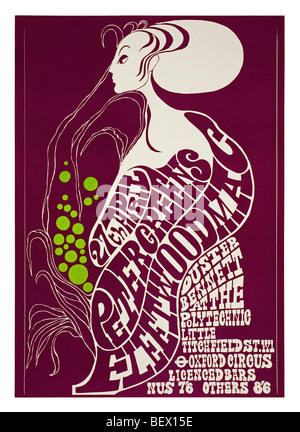 Affiche pour Peter Green's Fleetwood Mac à la London Polytechnic en 1967 Banque D'Images