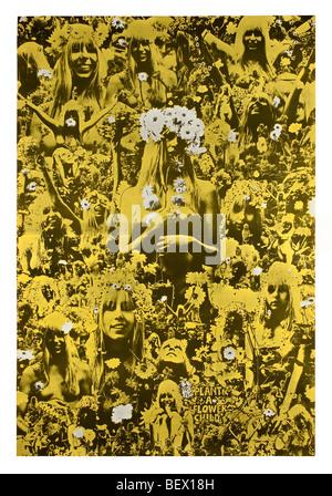 Oz magazine numéro 5 'plante une fleur enfant' publié en 1967 Banque D'Images