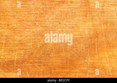 Bien utilisé planche à découper en bois offrant une bonne texture pour les fonds Banque D'Images