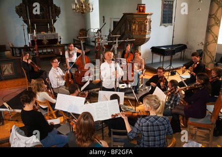 La Norvège Selbu Trondheimsolistene église Banque D'Images