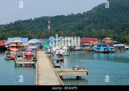 La province de Trat, Thaïlande, Koh Chang; Bangbao; Banque D'Images