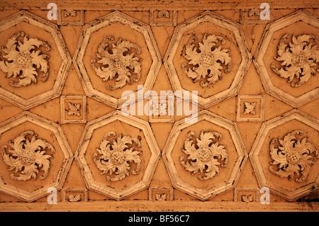 Design de plafond, détail, Palladin, pont pont palladien, 18e siècle, jardin paysage, Stowe Stowe, Buckingham, Buckingham Banque D'Images