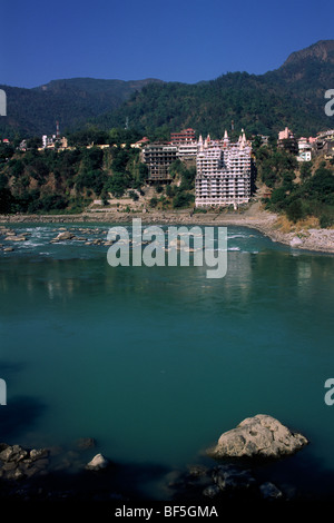 L'Inde, l'Uttarakhand, Rishikesh, Ganges river Banque D'Images