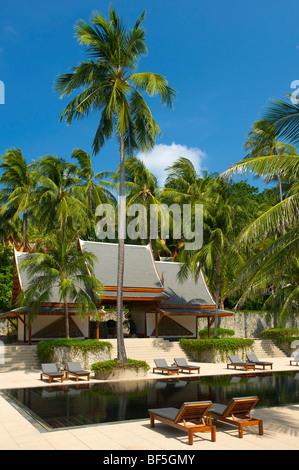 L'Amanpuri Resort, l'île de Phuket, Thaïlande, Asie Banque D'Images