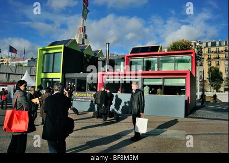 Paris, France, l'équipement de construction Trade Show, le salon Batimat, Be-Green Eco House, vue extérieure Banque D'Images