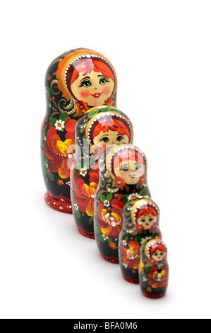 Poupées russes d'emboîtement - Matryoshki Banque D'Images