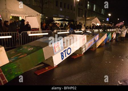 20e anniversaire de la chute du Mur de Berlin à Berlin, Allemagne, novembre 2009. Banque D'Images
