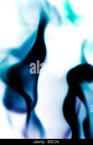 La fumée de couleur, la Suède. Banque D'Images