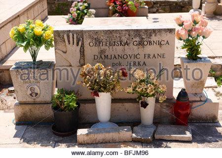 Au cimetière de Škrip, Venise, Italie Banque D'Images