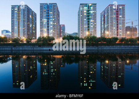 La Chine, Beijing, Haidian, reflet de la ville