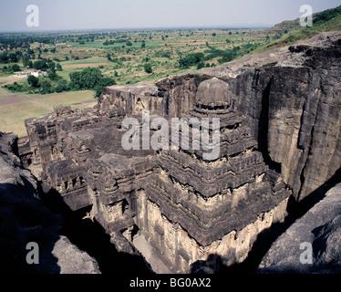 Le Temple Kailasanatha datant du 8e siècle AD, Ellora, UNESCO World Heritage Site, Maharashtra, Inde, Asie