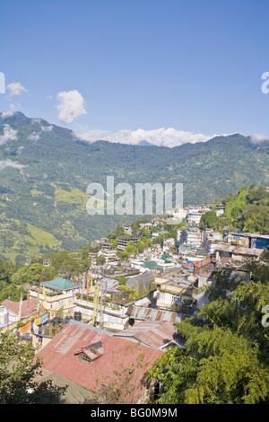 Vue sur la ville, Gangtok, Sikkim, Inde, Asie Banque D'Images