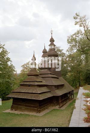 World Travel. L'Église ruthène des Carpates de Saint Michel Archange dans l'ancienne ville de Prague en République Banque D'Images