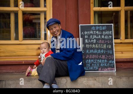 La vieille ville, Lijiang, Yunnan Province, China, Asia Banque D'Images