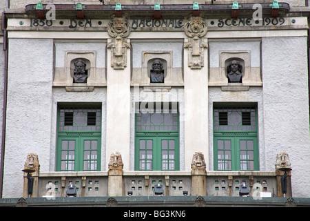Théâtre, Bergen, Hordaland, Norvège, Scandinavie, Europe Banque D'Images