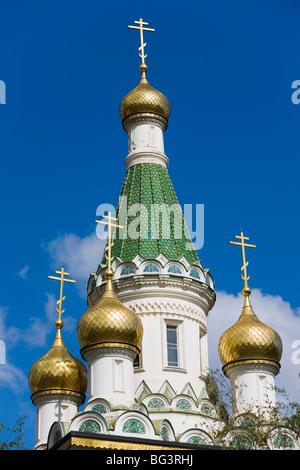 L'église Russe Nikolai St., Sofia, Bulgarie, Europe Banque D'Images