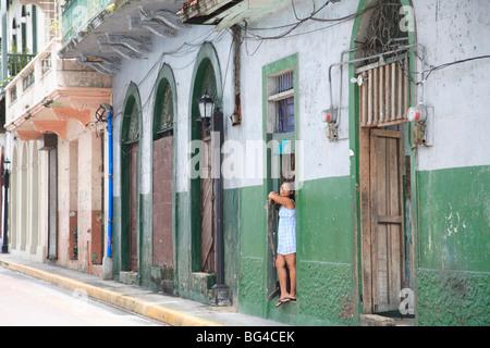 Casco Viejo, Vieille Ville, Vieille Ville, Panama City, Panama, Amérique Centrale Banque D'Images