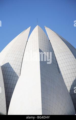 Fleur de Lotus temple, temple de Bahai, New Delhi, Inde, Asie Banque D'Images