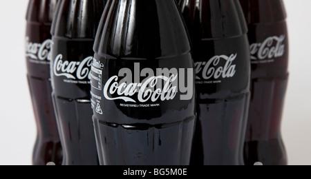 Coca cola bouteilles de coca en verre bouteille Banque D'Images