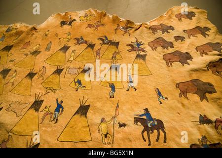 Sand Creek Massacre. Le Colonel John Chivington avec 700 hommes tués et mutilés 133 friendly Cheyenne, principalement Banque D'Images