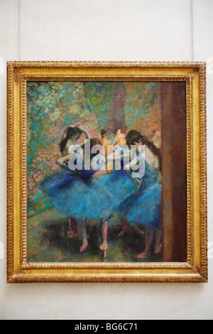 Danseurs bleu par Edgar Degas, Musée d'Orsay, Paris, France