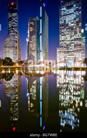 Parc de Lujiazui, Pudong, Shanghai, Chine Banque D'Images