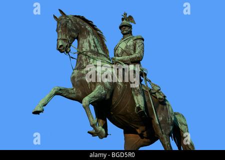Statue équestre du tsar Nicolas I de Russie (1796-1855), à Saint Petersburg, Russie Banque D'Images