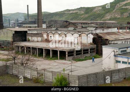 Usine désaffectée Carbosin causant la pollution en Europe de l'Est Roumanie Copsa Mica Banque D'Images