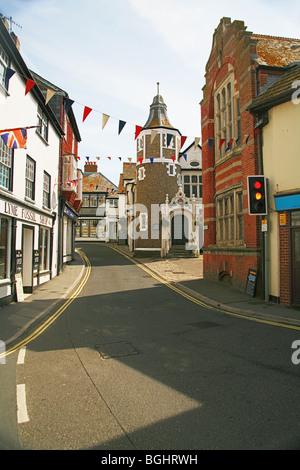 Jusqu'à la rue Bridge, à Lyme Regis, Dorset, England, UK Banque D'Images