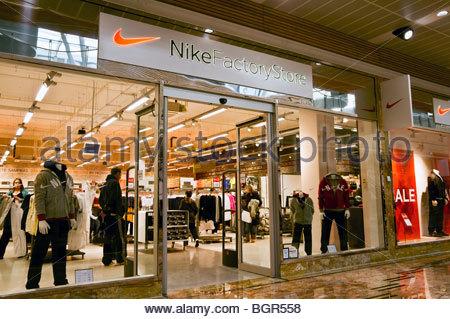 Magasin d'usine Nike shop à Gloucester Quays Designer Outlet, au Royaume-Uni