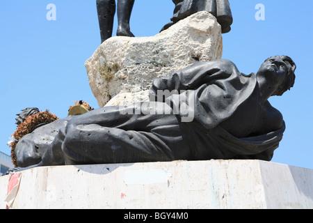 Statue de martyr, Martyr's Square, centre-ville, Beyrouth, Liban, Moyen-Orient Banque D'Images