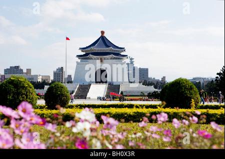 La Chiang Kai-shek Memorial Hall à la lumière du soleil, Taipei, Taïwan, l'Asie Banque D'Images