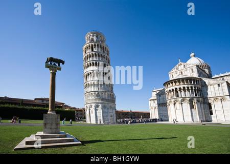 La Tour Penchée de Pise, Italie, Tuskany Banque D'Images