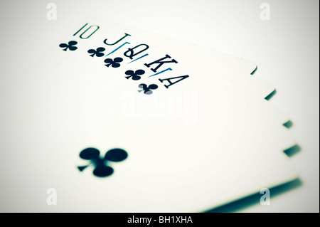 Cartes de poker Royal Flush Banque D'Images