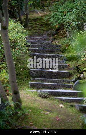 Escalier en pierre rustique à Portland Oregon\'s Jardin ...