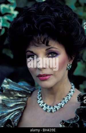 Star TV Joan Collins, Alexis caractère dans Dynasty à Hollywood, Californie Banque D'Images
