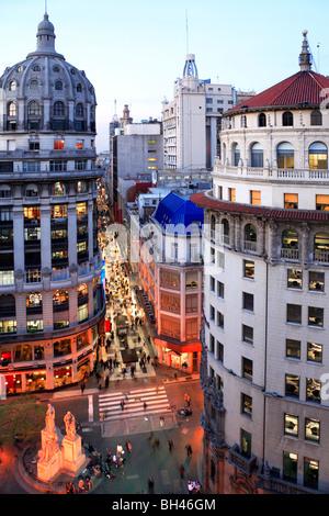 Vue aérienne de la Floride (zone piétonne) Rue. Buenos Aires, Argentine, Amérique du Sud Banque D'Images