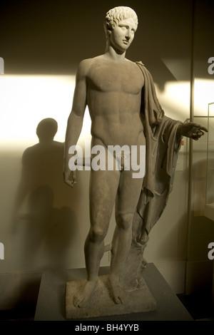 Hermes: statue en marbre, 1er ou 2ème siècle après J.-C. de la période romaine. Metropolitan Museum of Art, New Banque D'Images