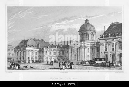 Palais de l'Institut, ou des beaux-arts Banque D'Images