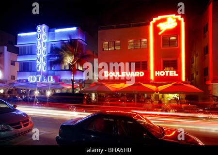 Ocean Drive, à South Beach, Miami, Floride, USA Banque D'Images