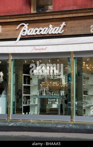 Cristal Baccarat - boutique, place de la Madeleine à Paris. Banque D'Images
