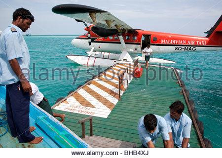 Les Maldives, Maldivian Air Taxi Banque D'Images