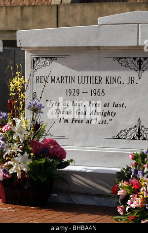 Tombe de Martin Luther King Jr., Lieu historique national, Atlanta, Georgia, USA Banque D'Images