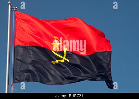 Drapeau de l'Angola Banque D'Images