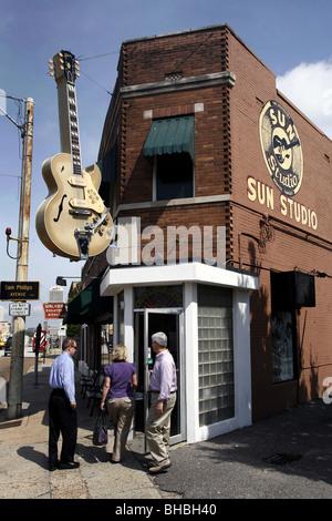 Sun Studio, Memphis, Tennessee, États-Unis Banque D'Images