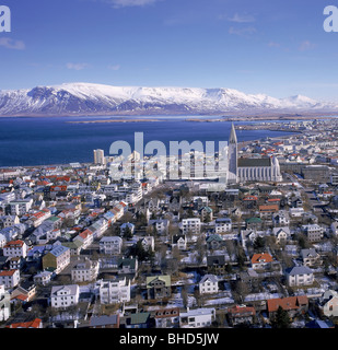 L'hiver, Reykjavik Islande Banque D'Images