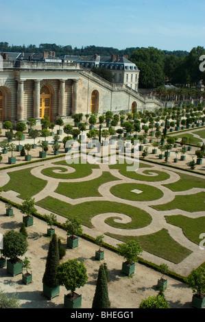 Versailles, France, Château français 'Chateau de Versailles' Monument jardin formel, vide Vue aérienne, à l'extérieur